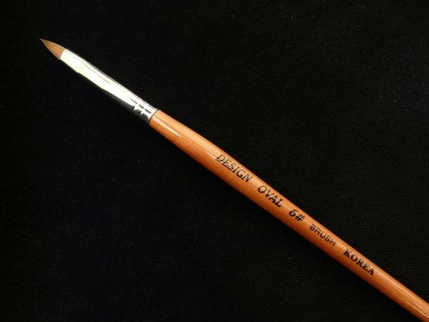 Кисть для акрила №6 (тонкая ручка)