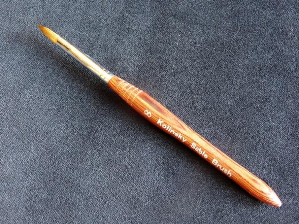 Кисть для акрила №6 (толстая ручка)