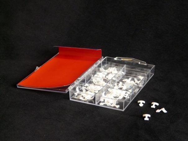 Типсы короткий френч белые. опт 10 упаковок.